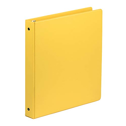 Samsill 1 Inch Value Document Storage 3 Ring Binder, Round Ring, 11 x 8.5 Inches, Yellow (11306)