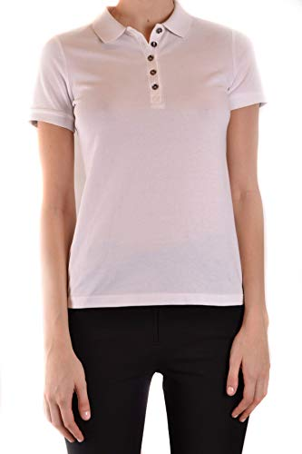 BURBERRY Luxury Fashion Damen MCBI39330 Weiss Poloshirt   Jahreszeit Outlet