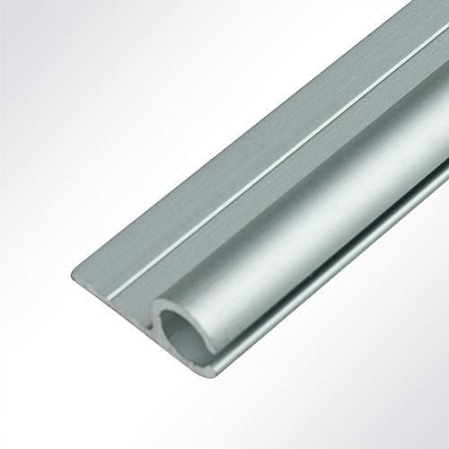 LYSEL® Kederschiene 15x30mm eloxiert 2m 90° Grau Ø10mm für Keder 6-9mm