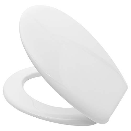 LUVETT® WC-SITZ C300 oval mit EasyFix® Steckscharnier (Befestigung von oben) OHNE ABSENKAUTOMATIK hygienisch & beständig: Urea Duroplast, rostfreier Edelstahl, Farbe:Weiß