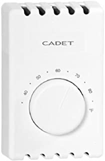 CADET MANUFACTURING CO 08121 White Single Pole Thermostat