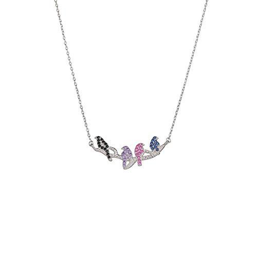QiuYueShangMao Agapornis Collar Blanco Mujer Accesorios Simples Cadena de clavícula joyería joyería...