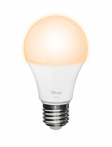 Trust Smart Home ZLED-EC2206 - Bombilla LED Inteligente Regulable (controlable vía Smartphone, Philips Hue* Compatible), Color Blanco
