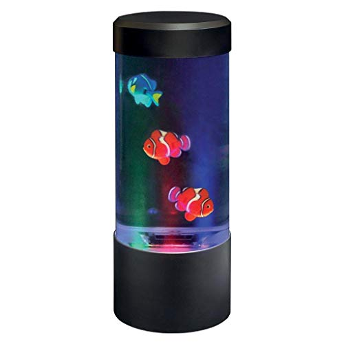 Lightahead LED Mini Desktop Fantasy Fish Lamp with Color Changing Light Effects. A Sensory Synthetic Fish Tank Aquarium Mood Lamp. Excellent Gift