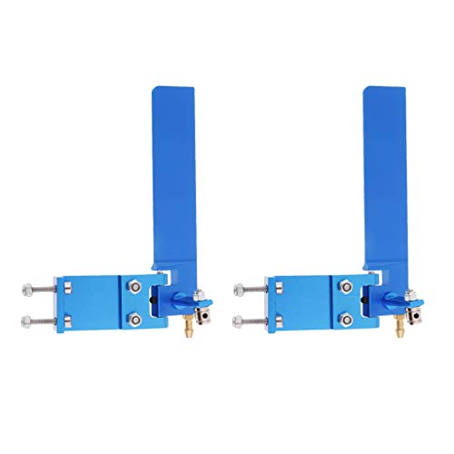 perfeclan 2 Unids Aleación de Aluminio 95mm RC Barco Timón Recogida de Agua Absorbente Dirección Azul - Azul