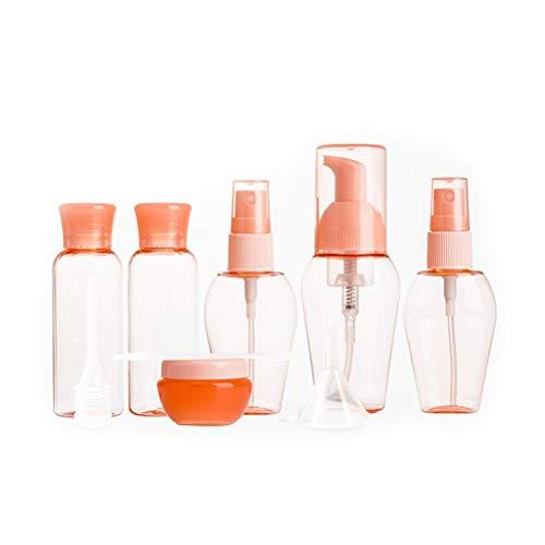 Bouteilles de voyage, 6 pièces TSA Approuvée Leakproof Conteneurs Voyage for toilette ou liquides de maquillage Par (Color : Pink)
