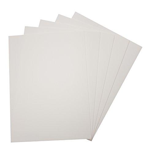 folia 23500 - Moosgummi, 5 Bögen, 2 mm, ca. 29 x 40 cm, weiß - ideal für vielfältige Bastelarbeiten