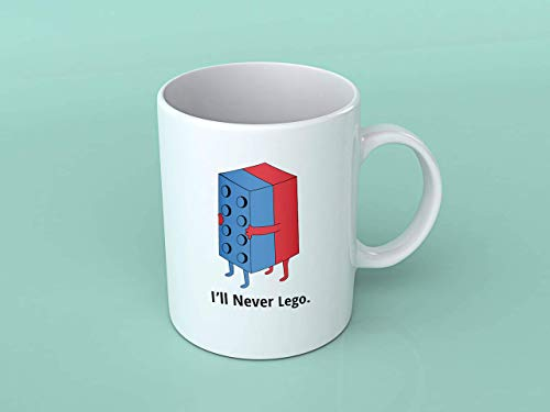 N\A I39Ll Never Lego Punny Lego Pun Tea Mug Taza de café San Valentín Cumpleaños