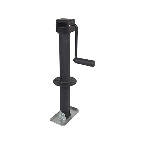 Trailer Valet Blackout Series 5K Side Wind Center Mount Jack 15'