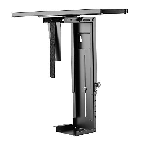 RICOO PC Rechner-Halterung Unter Schreibtisch 360 Grad Drehbar (TRH-05) Flexibel Computer-Halterung Gehäuse-Halter Unter-Tischhalterung