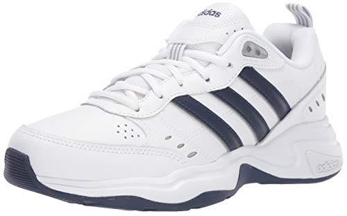 adidas Men's Strutter Cross Trainer, White/Black, 12 M US