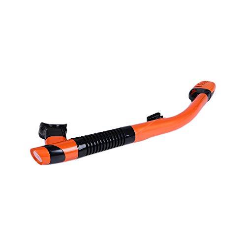 FLAUU Tubo de Buceo, Versión Extendida de la totalidad de tintorería Anti-Wave Nadar Tubo, respetuosa del Medio Ambiente de Silicona Boquilla Adecuado para Cualquier Gafas de Buceo,Naranja