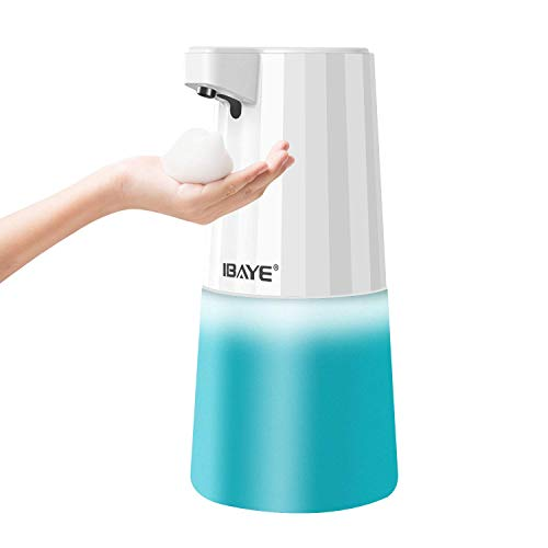ibaye Soap Dispenser,Hand Free Countertop Automatic Foaming Soap Dispenser, 3 Level Soap Volume,500ml/16.9oz Infrared Sensor Hand Washing for Bathroom and Kitchen