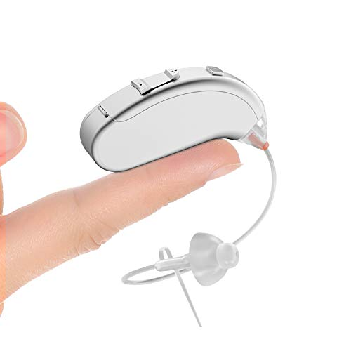 Digital Hearing Aid for Adults and Seniors VHP- 702, 500hr Battery Life, Mini Size, Lightweight Designed and Comfort, Hearing Amplifier with Noise Cancelling Technology, Fit Left and Right Ear
