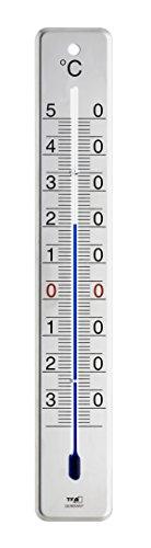 TFA Dostmann Analoges Innen-Außen-Thermometer, 12.2046.60, aus Edelstahl, wetterfest