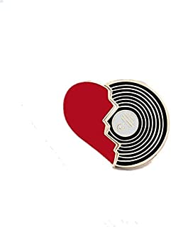 2 unids/set corazón serie Pizza vino tinto música Metal esmalte Pin broches especiales bolsa de ropa alfileres de solapa i...