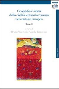 Geografia e storia della civiltà letteraria romena nel contesto europeo: GEOGRAFIA E STORIA DELLA CIVILTA LETT. 2