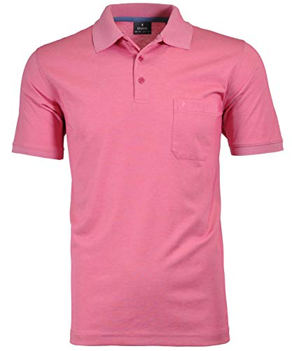 Ragman Herren Kurzarm Softknit Poloshirt 3XL Pink