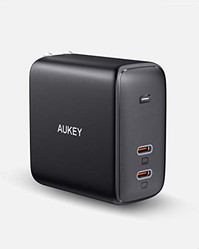 AUKEY USB C 急速充電器 PD 45W+45W 充電器 Power Delivery 3.0 iPhone 12 Pro Max/iPhone 12 / iPhone Mini/iPad Pro/iPhone 11 Pro Max/iPhone X Pro Max/iPhone 8 Plus その他対応 PA-B6 ブラック