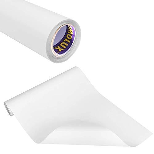 SOMOLUX HTV Iron-on Vinyl 12inch x12feet Heat Transfer Vinyl Roll Easy to Cut & Weed Iron on Vinyl Heat Press, DIY Design for T-Shirts Glossy White