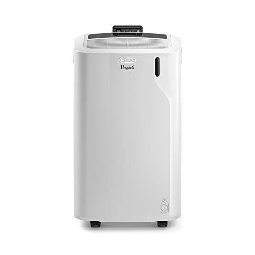 De\'Longhi Pinguino PAC EM82 Eco, mobiles Klimagerät mit Abluftschlauch, Entfeuchtungs- & Ventilations-Funktion, Klimaanlage für Räume bis 80 m³, integrierter Staubfilter & 24h Timer, weiß