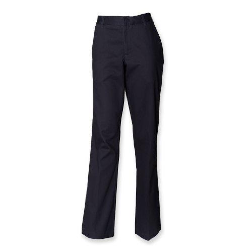 Henbury Ladies Teflon ® Coated pantalon avant plat marine 20/R