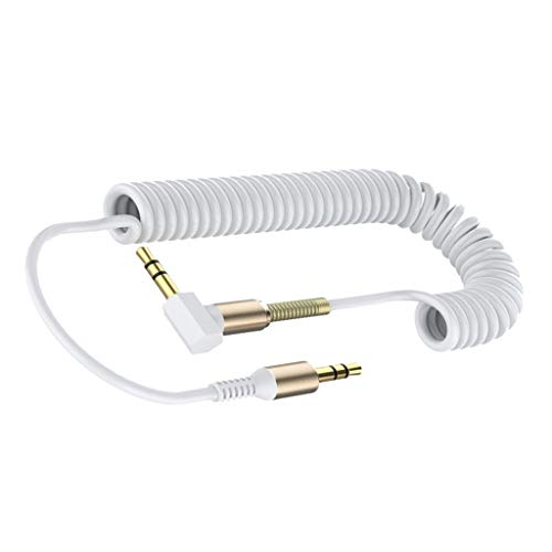 SM SunniMix 1pc 3.5mm AUX Cable a Macho Audio Auxiliar PC Coche - Blanco