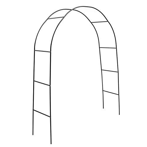 Hemoton Arco de Jardín de Metal Pérgola de Metal Arbor Planta Trepadora Arco para Planta Trepadora Al Aire Libre Fiesta de Boda Césped Decoración Del Patio Trasero Verde