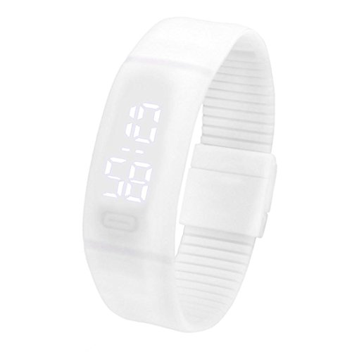 Reloj de pulsera deportivo y digital, unisex, silicona, pantalla LED, muestra la hora en la oscuridad, de Fulltime