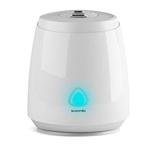 Suavinex, Humidificador Smart para Bebés (Silencioso, de Vapor Frío, Ultrasónico, Aromaterapia, Luz Nocturna Led, Control con Aplicación Móvil, Compatible con Alexa y Google Assistant)