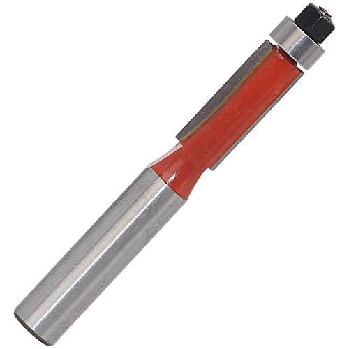 NO LOGO 1pc 8 mm Vástago Escalera de Color bit Recorte Router de Madera con la Tapa de cojinete C3 carburo carpintería Fresa del Molino de Cara (tamaño : As Show)