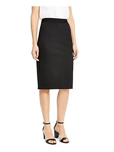 Alfani Womens Black Geometric Below The Knee Pencil Wear to Work Skirt Size XS