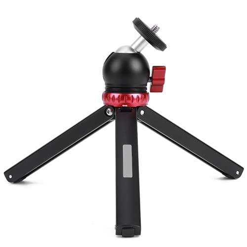 Trípode de escritorio, trípode de cámara 55 ° y 80 ° Dos engranajes 360 con rótula esférica para teléfono celular