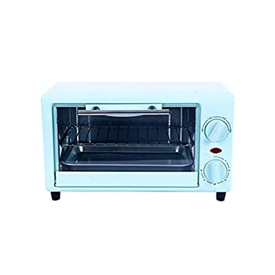 Hchao Mini Baking Electric Oven, Double-Layer Double-Sided Uniform Baking, Transparent Large Window, 90? Pull-Down Door, Making Cakes, Barbecues, Egg Tarts, Etc, Blue.