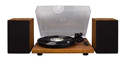Crosley C62 Vinyl Turntable w/Bluetooth Receiver, Includes Speakers & Built-in Amplifier - Walnut