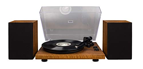 Crosley C62 Vinyl Turntable w/Bluetooth Receiver, Includes Speakers & Built-in Amplifier - Walnut