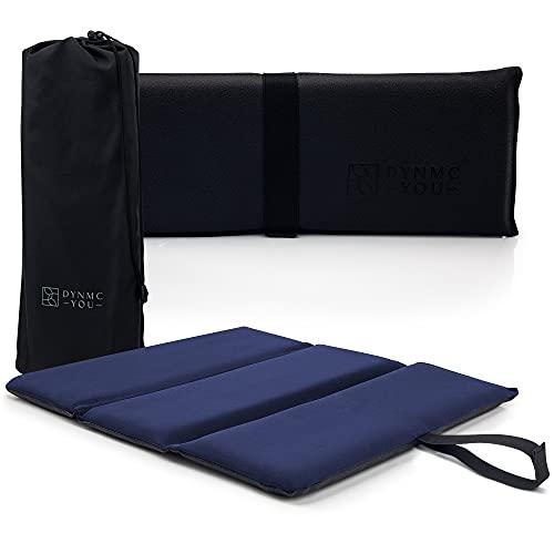 Premium Iso Sitzkissen Outdoor - Exzellente Polsterung, Große Sitzfläche, Wasserabweisend - Langlebige Isomatte Outdoor inkl. hochwertiger Tasche - 38x38,5x2,5cm Isomatte Camping von DYNMC YOU