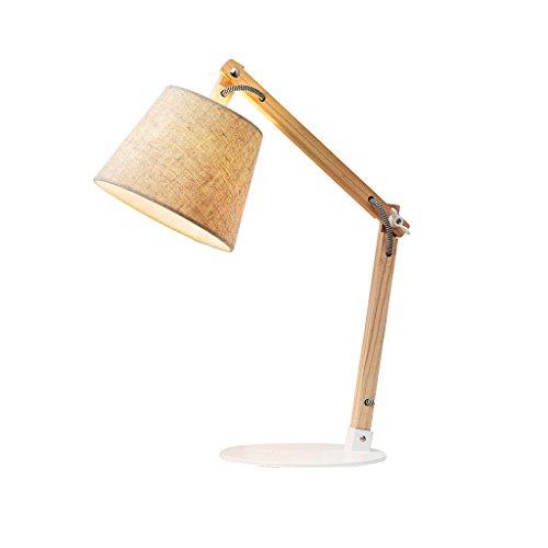 AJZGF Lampe de table décorative Balançoire en bois lampe de bureau designer lampe de lecture lampe de travail lampe de bureau lampe de chevet lampe de chevet - LED E27 Lampe de table