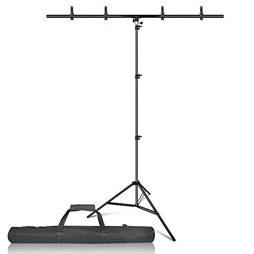 Emart T-Shape Portable Background Backdrop Support Stand Kit 5ft Wide...