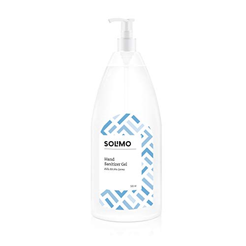 Amazon Brand – Solimo Hand Sanitizer Gel (72% Ethanol Absolute) – 500 ml