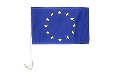 AZ FLAG AUTOFAHNE EUROPÄISCHE Union 45x30cm - Europa AUTOFLAGGE 30 x 45 cm Auto flaggen