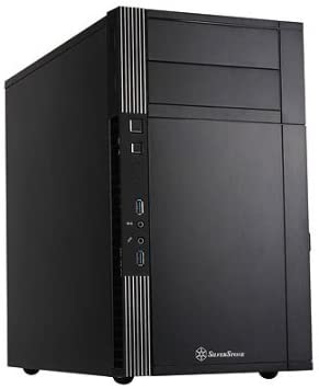Silverstone Tek Micro-ATX Mini-DTX, Mini-ITX Mini Tower Plastic with Aluminum Accent Computer Cases PS07B (Black)