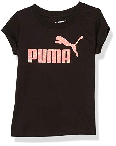 PUMA Girls' T-Shirt, Black, 3T