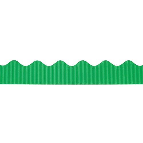 """Bordette Scalloped Decorative Border P37134, 2-1/4"""" x 50', Apple Green, 1 Roll"""