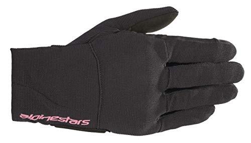 Alpinestars Reef Ladies Motorcycle Gloves Schwarz/Pink S