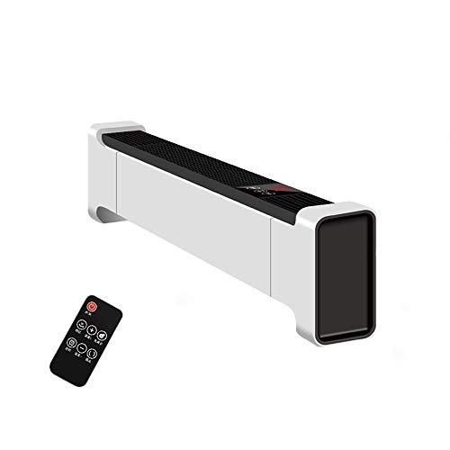 Tragbare Elektrische Einstellbare Thermostat-Lüfte Freistehender Mobile 2200W Konvektor-Schnellheizung mit 3 Wärmeeinstellungen, Sicherheitsausschnittfunktion mit Thermostat (Color : Remote Control)