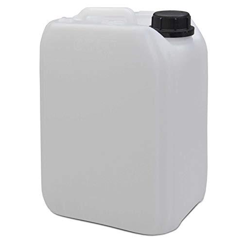 IMPREGNO Kunststoffkanister Kanister Wasserkanister Leerkanister Kunststoff Natur 2,5l / 5l / 10l / 25l mit Deckel Sicherheitsverschluss Lebensmittelecht (5 Liter)