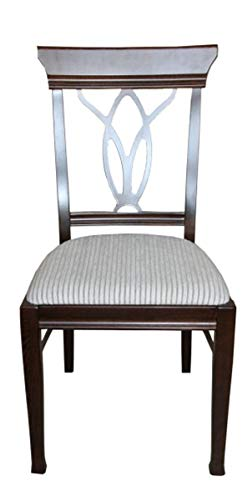Casa Padrino Biedermeier Esszimmer Stuhl ohne Armlehne Beige/Braun - Möbel Restaurant Hotel Gastronomie Bestuhlung