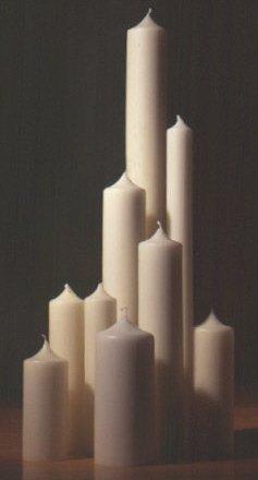 Bougies de mariä lichtmess couleur ivoire/crème 80 x 300 mm