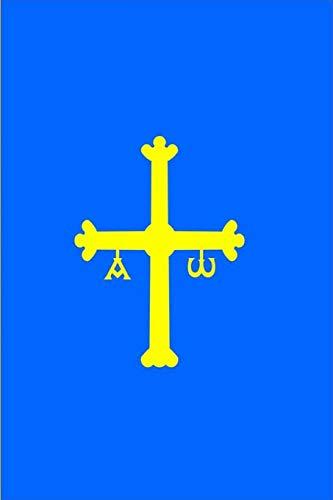Gran Bandera de Comunidad Asturias: un diario cuaderno de composición perfecta para escribir en 6x9 pulgadas con el regalo cuadernos de 120 páginas ... adolescentes amigos estudiantes renglón ancho